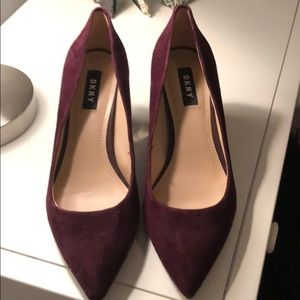 DKNY high heels with gold trim